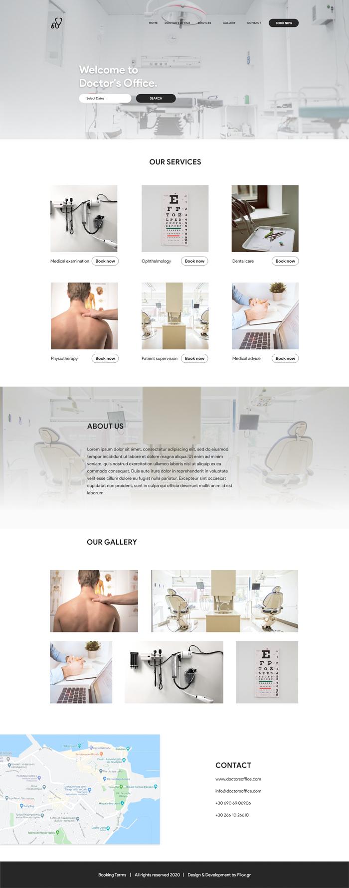 Homepage iatreia filox onepage